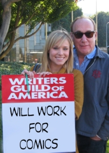 Jeph Loeb (pictured here with Heroes star, Kristen Bell) was fired by NBC according to Variety